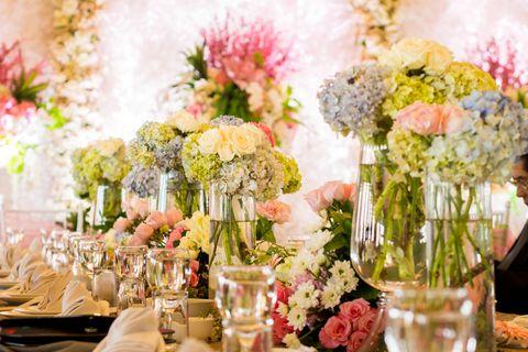 beautiful wedding flower decoration