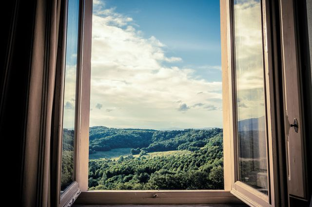 beautiful view out of single window