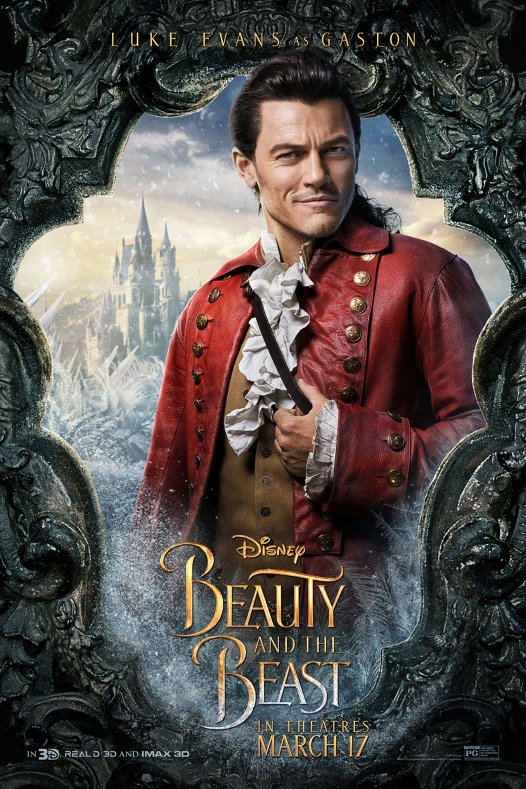 Risultati immagini per beauty and the beast movie characters posters gaston