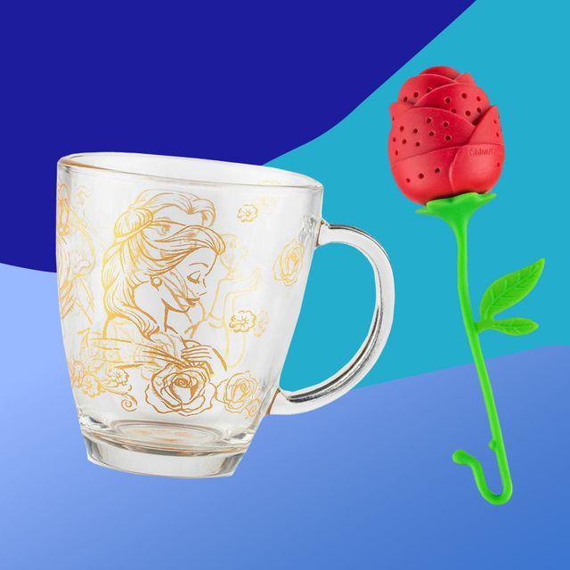 beauty and the beast mug and tea diffuser