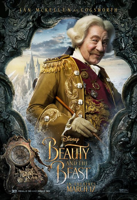 """beauty and the beast character posters gaston looks hot in """"beauty and the beast"""" character posters"""
