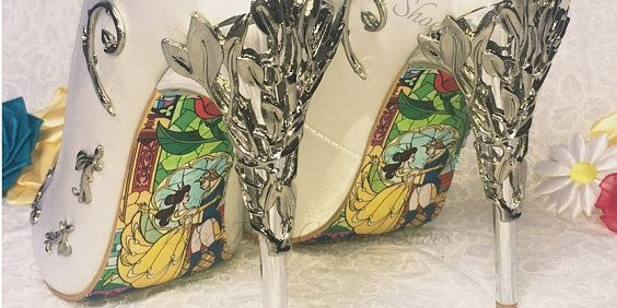 59c2b30323eb These Beauty and the Beast bridal heels will make you feel like the princess  you truly are