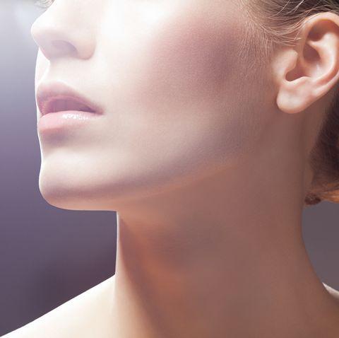 Beauty portrait neck