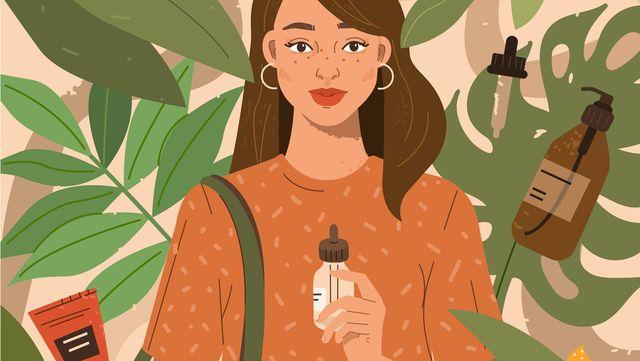vrouw met duurzame producten