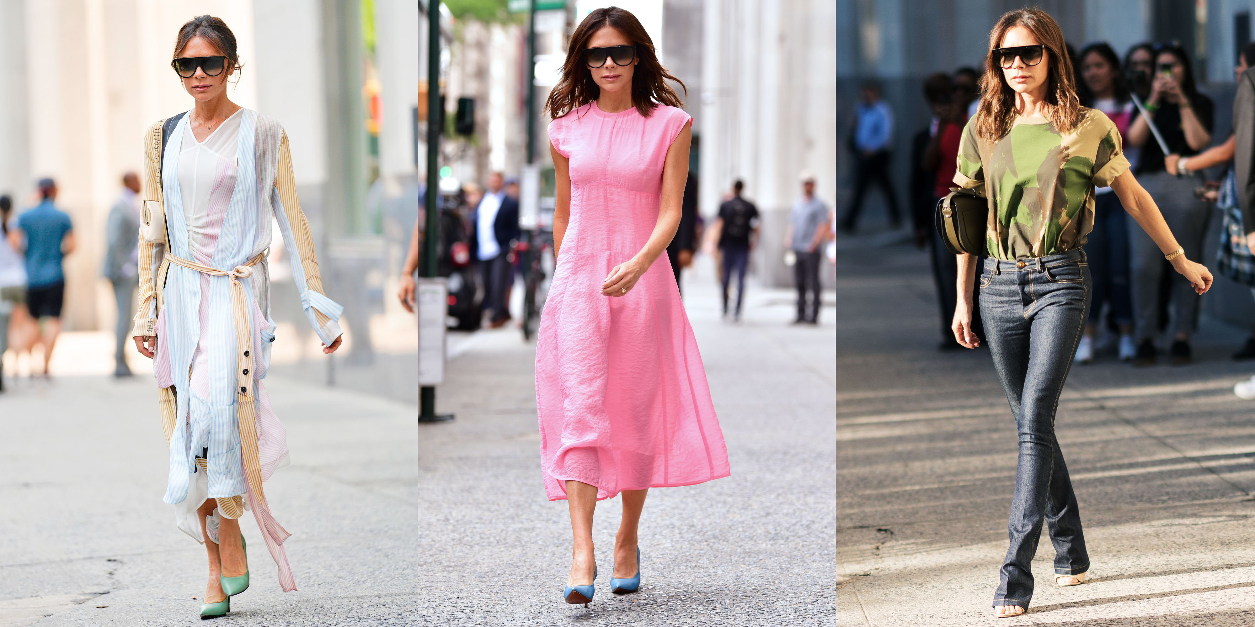 Victoria Beckham Wore a Bright Pink Dress in New York City