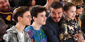 Beckham family -Victoria Beckham - Front Row - LFW