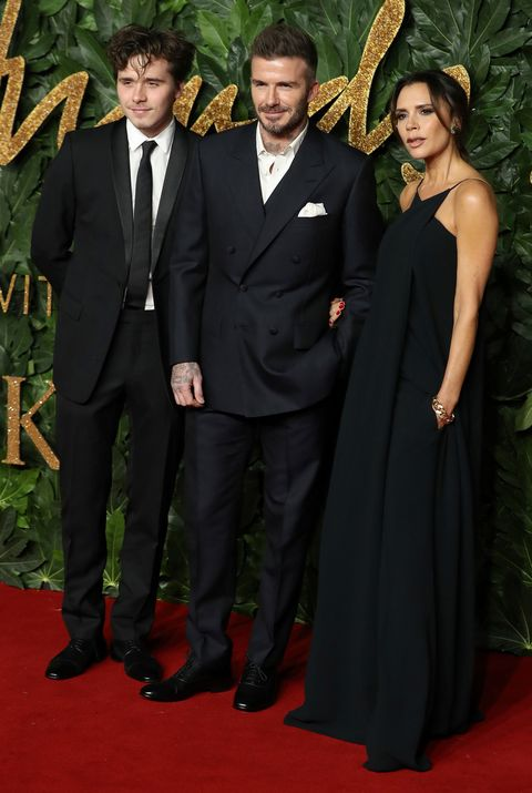 Victoria Beckham, David Beckham, Brooklyn Beckham, Fashion Awards 2018