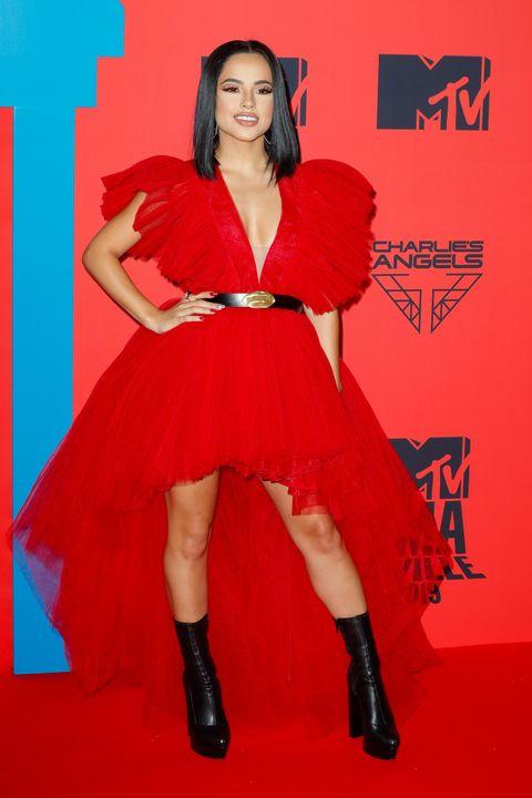 Becky G  en la alfombra roja de los MTV Europe Music Awards celebrados en Sevilla