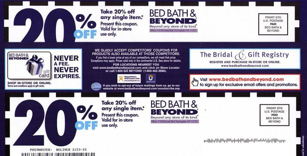 does bed bath and beyond still accept expired coupons