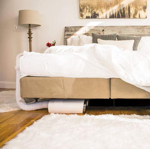 Bedroom, Furniture, Bed, Room, Bed frame, Interior design, Wall, Bed sheet, Mattress, Bedding,