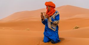 Bedouin man take a picture