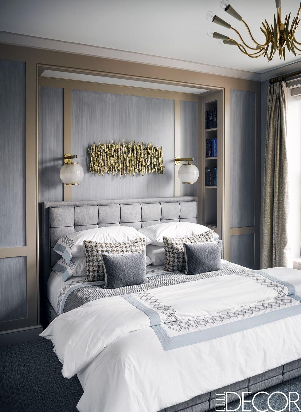 Lighting bed Headboard Bedroom Lighting Ideas Elle Decor 40 Bedroom Lighting Ideas Unique Lights For Bedrooms