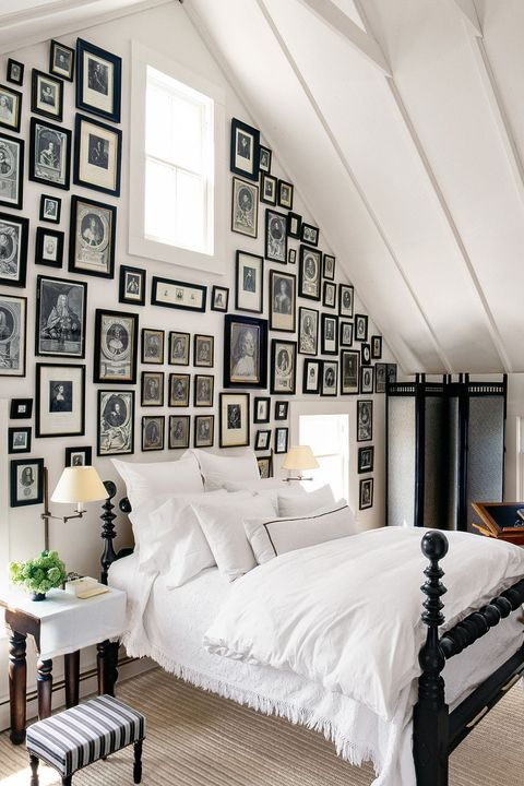 bedroom makeover ideas gallery wall