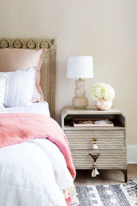 bedroom makeover ideas tassel nightstand