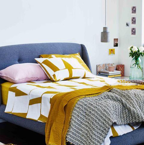 Ochre bedroom design