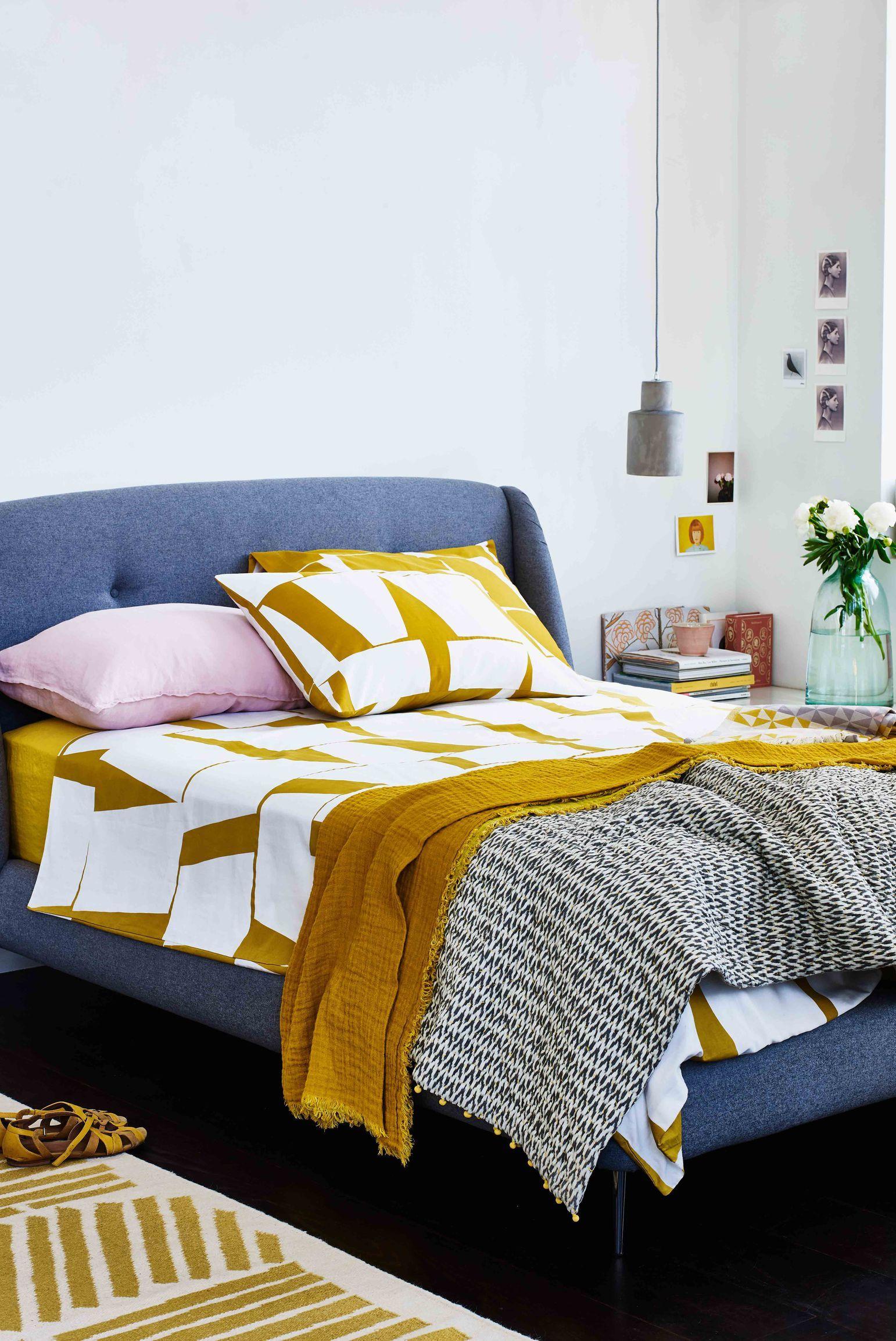Bedroom Inspiration Ochre colour style inspiration