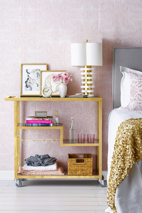 bedroom storage ideas - bar cart