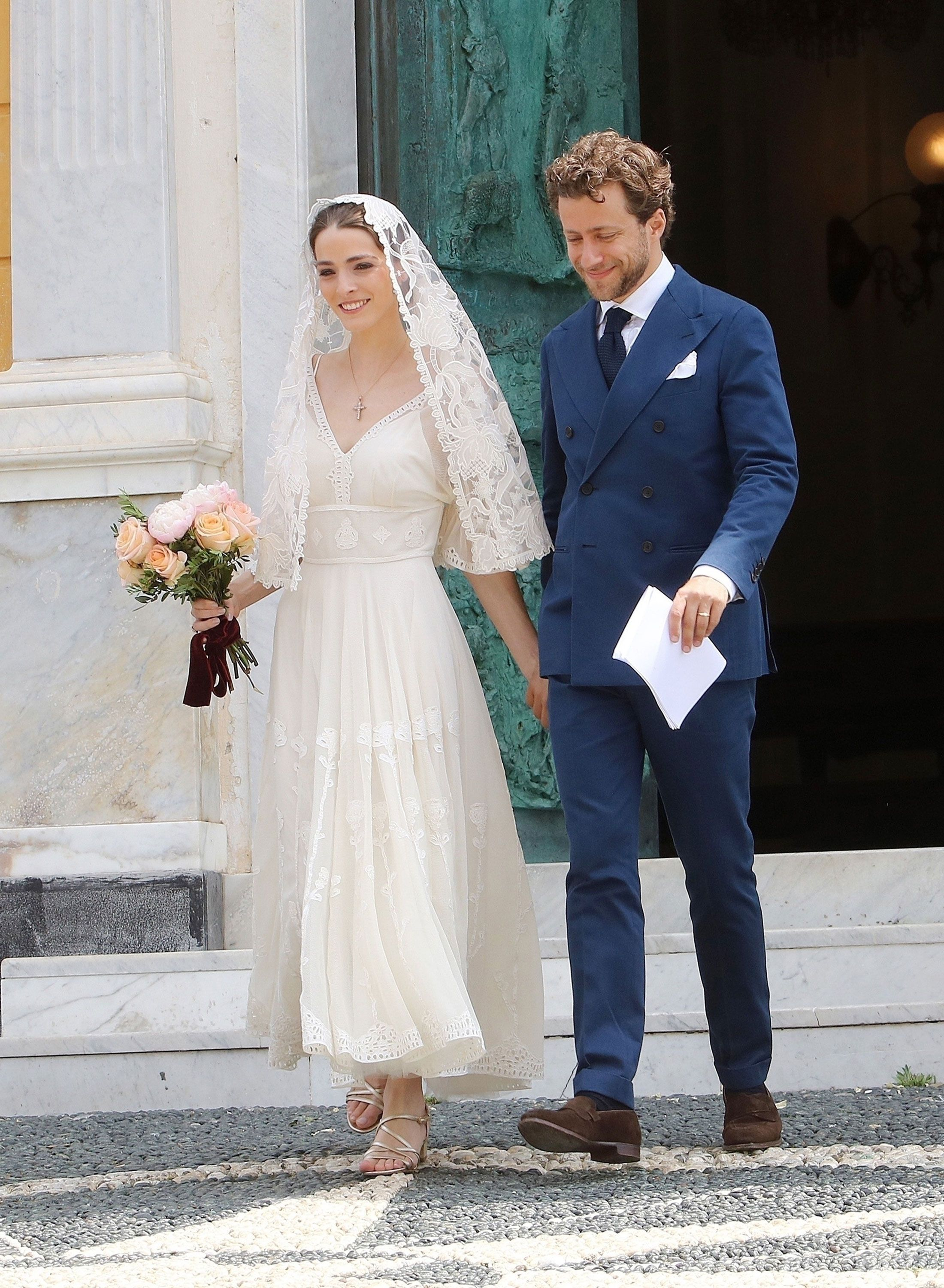 Bee Shaffer S Italian Wedding Dress Is As Stylish You Would Expect See Second