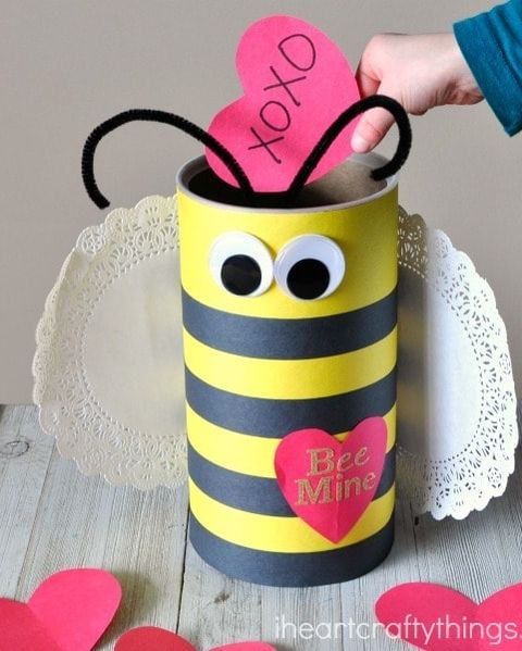 bee diy valentines day boxes