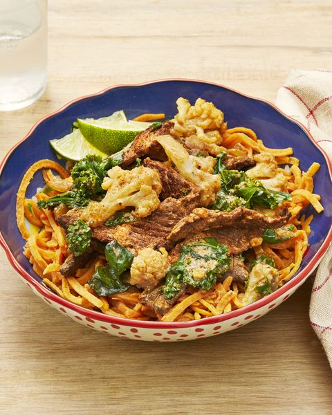 beef curry with sweet potato noodles