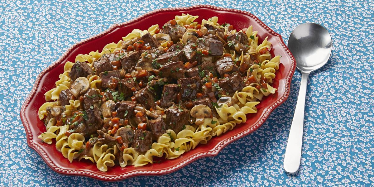 Easy Beef Stroganoff Recipe - How to Make Beef Stroganoff ...