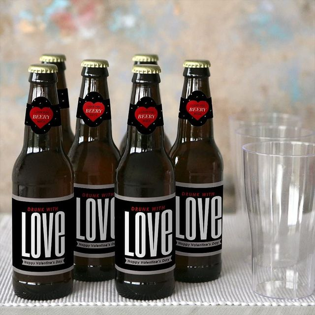 beer labels valentine's day