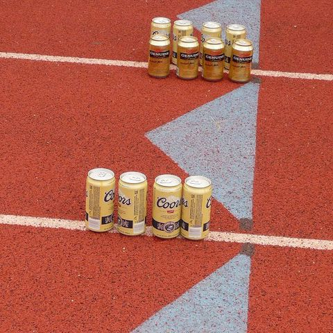 beer on a track