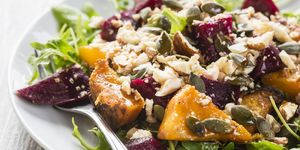 Beetroot and butternut salad with sauce