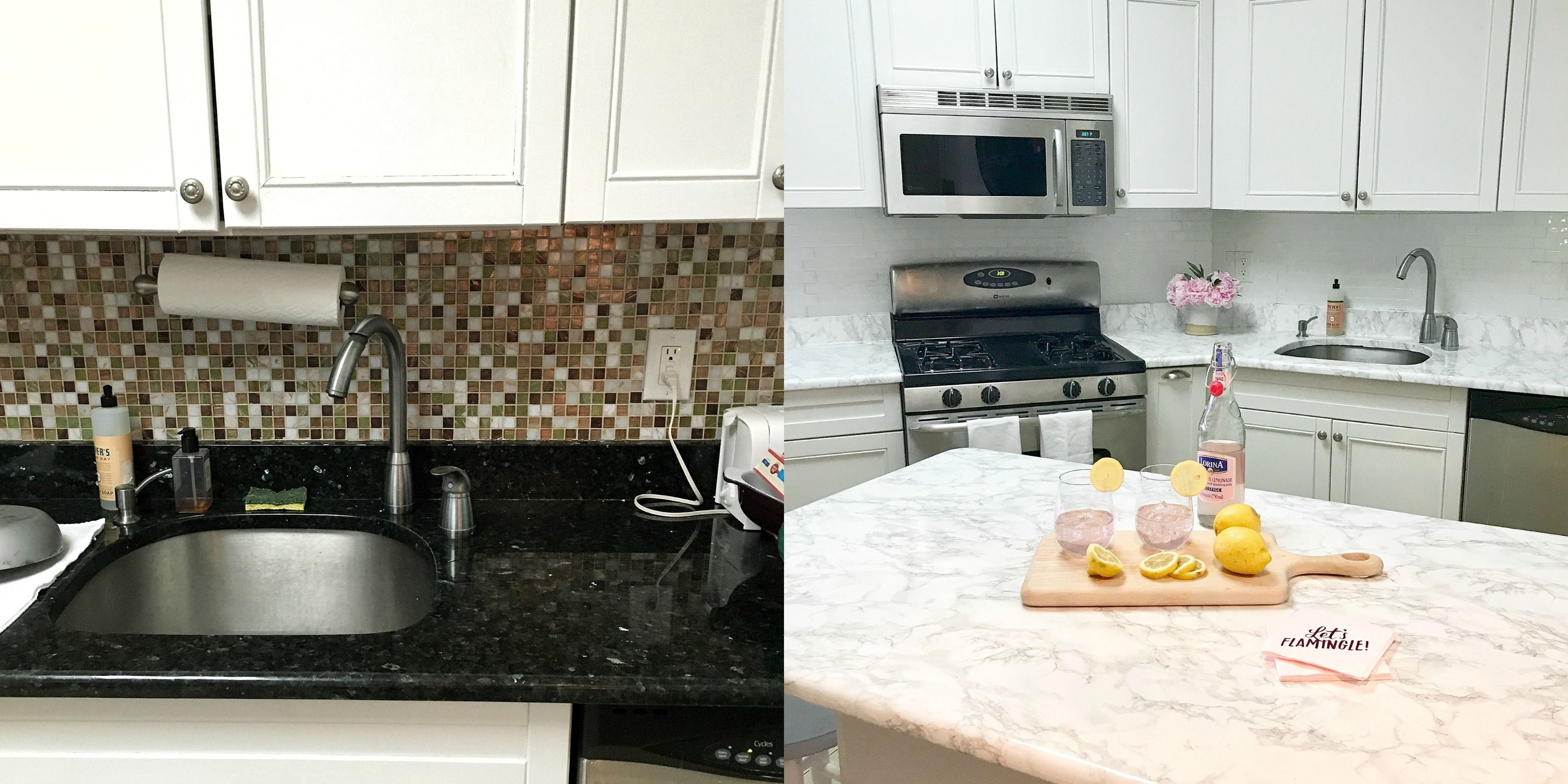 This Insane Kitchen Renovation Was Done With $9 Contact Paper From Amazon