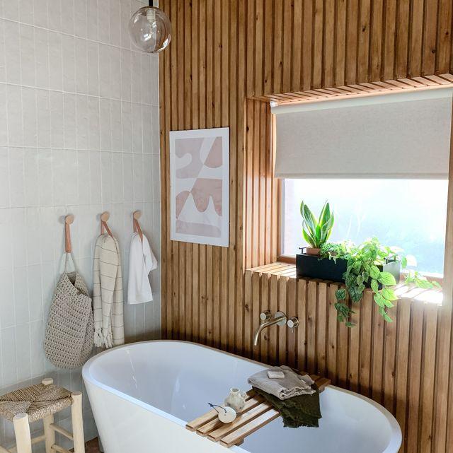 scandinavian bathroom transformation   before  after