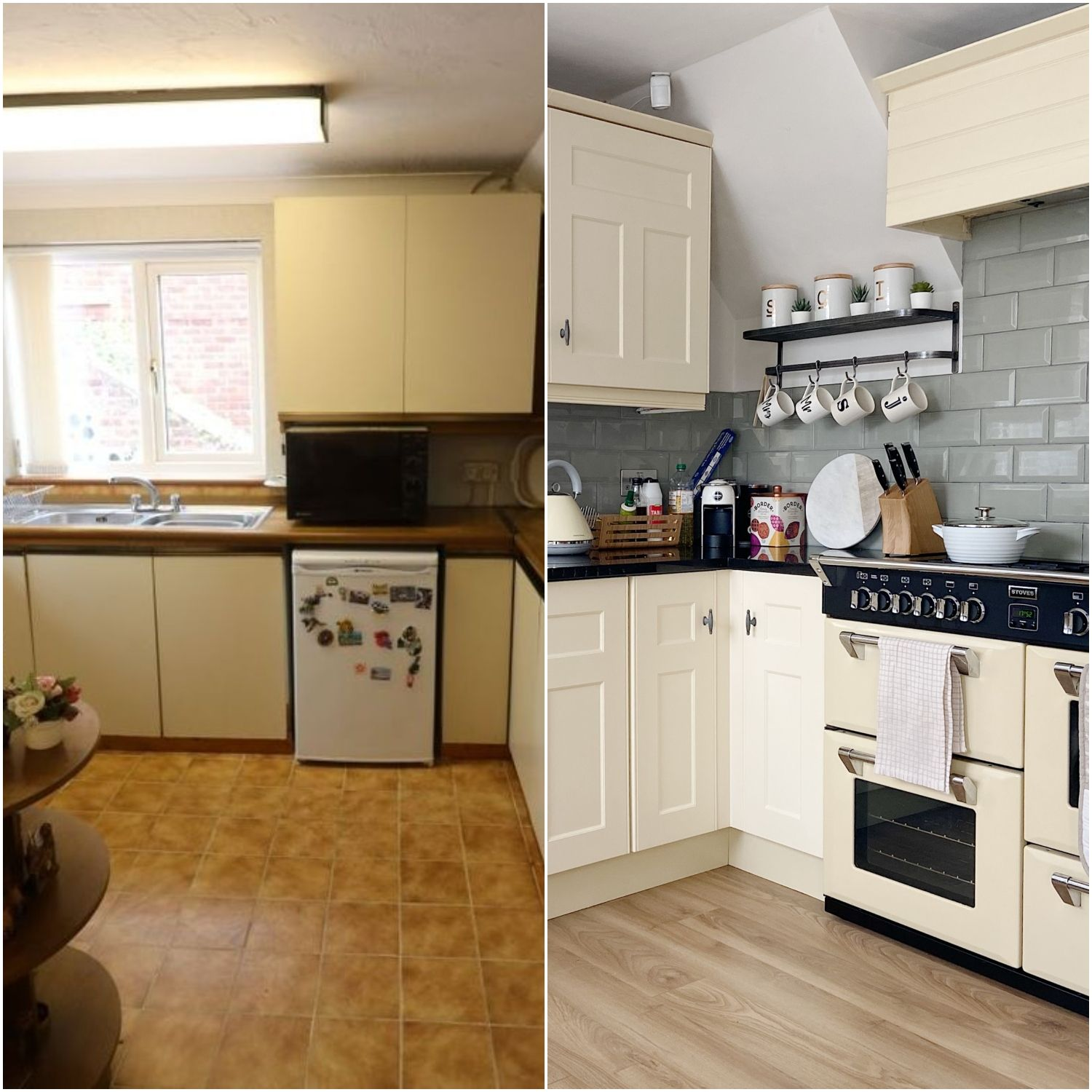 Before & After: a first-time buyer's £1,500 budget kitchen makeover