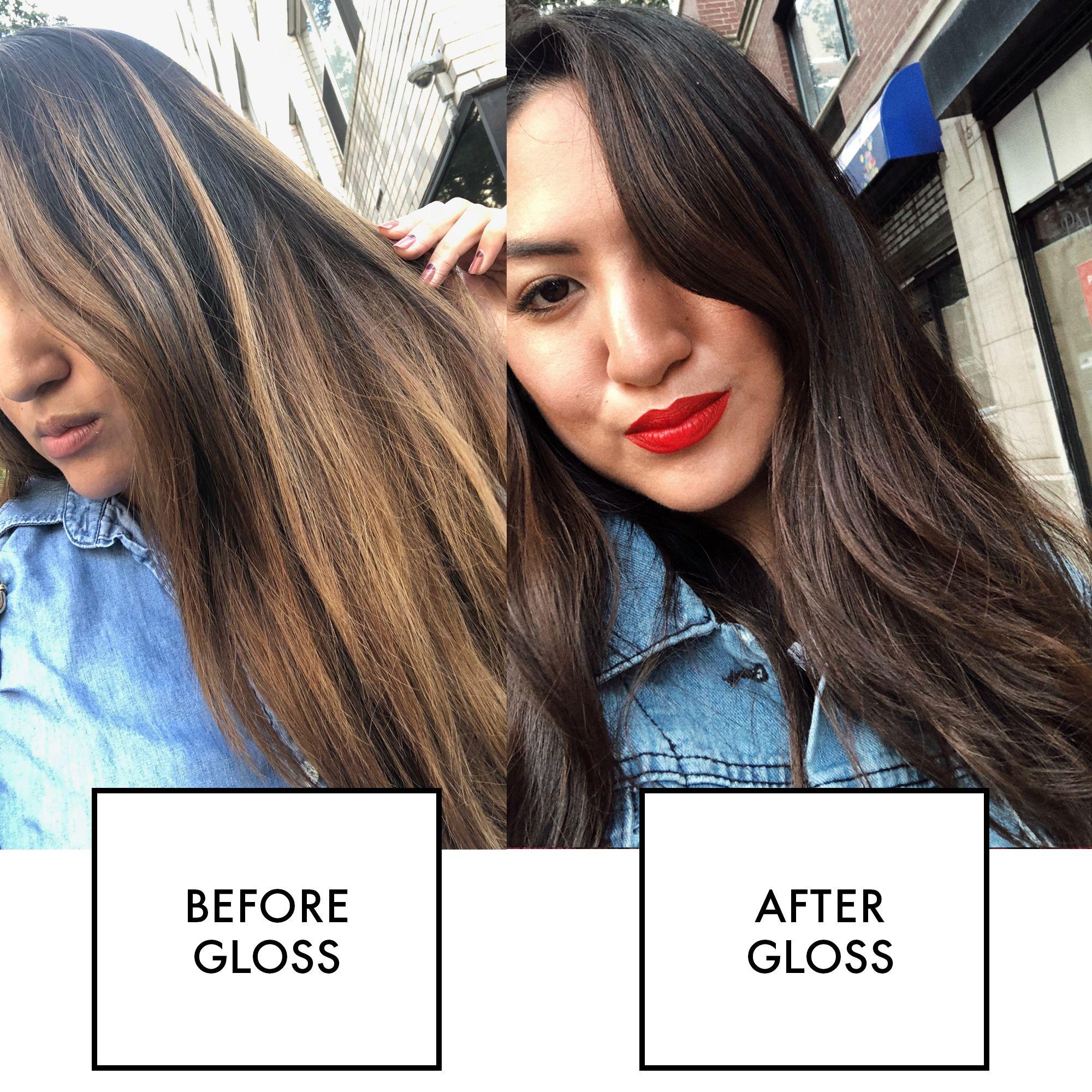 What Is A Hair Gloss Treatment Hair Gloss Vs Hair Dye