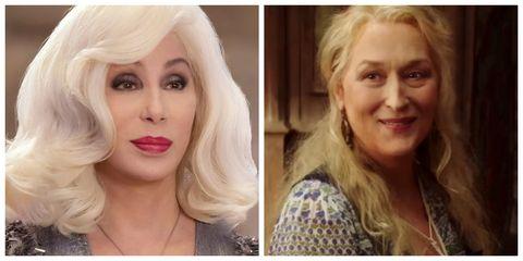 Cher en Meryl Streep