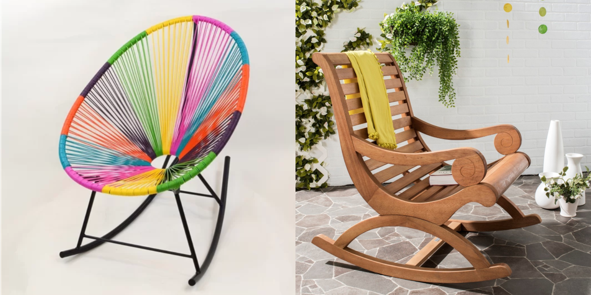 Tremendous 11 Cool Outdoor Rocking Chairs That Dont Seem Grandma Ish Squirreltailoven Fun Painted Chair Ideas Images Squirreltailovenorg