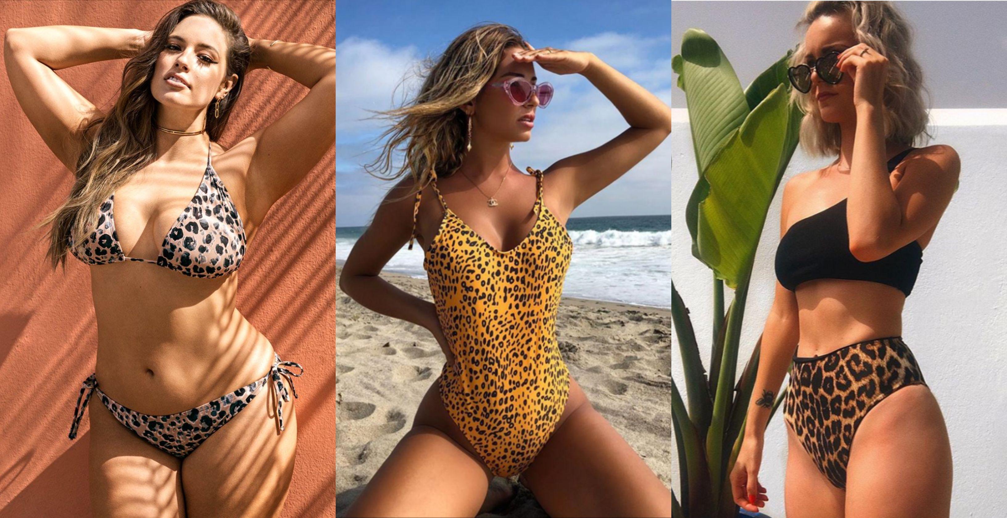 4c9b76b54 El estampado de leopardo que triunfa en los bikinis de las influencers