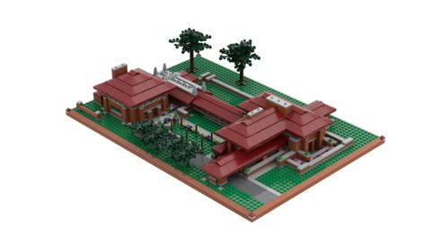Toy, Playset, Architecture, Scale model, Grass, Land lot, Plant, House, Lego,