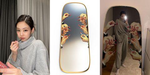 jennie的唇膏鏡也能引起討論!在家就能拍大片的可愛全身鏡,一面鏡子要價竟然是