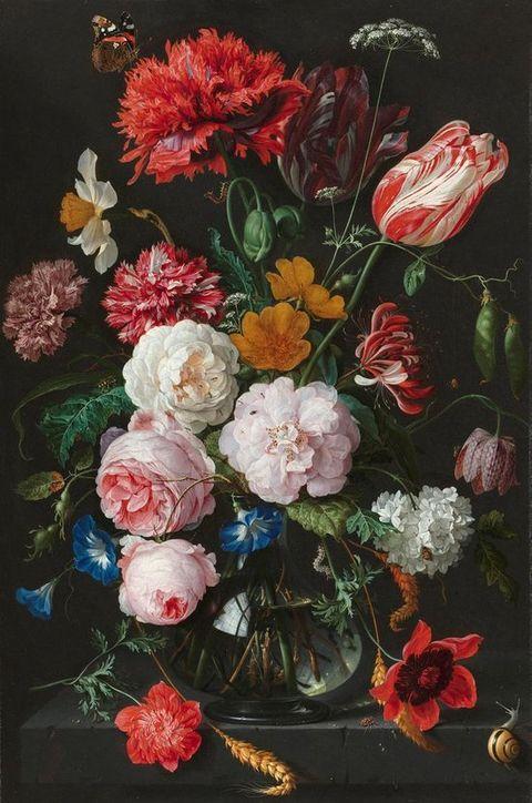 fotobehang   jan davidsz de heem   stilleven met bloemen
