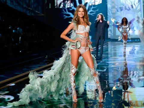Behati Prinsloo on the Victorias' Secret catwalk