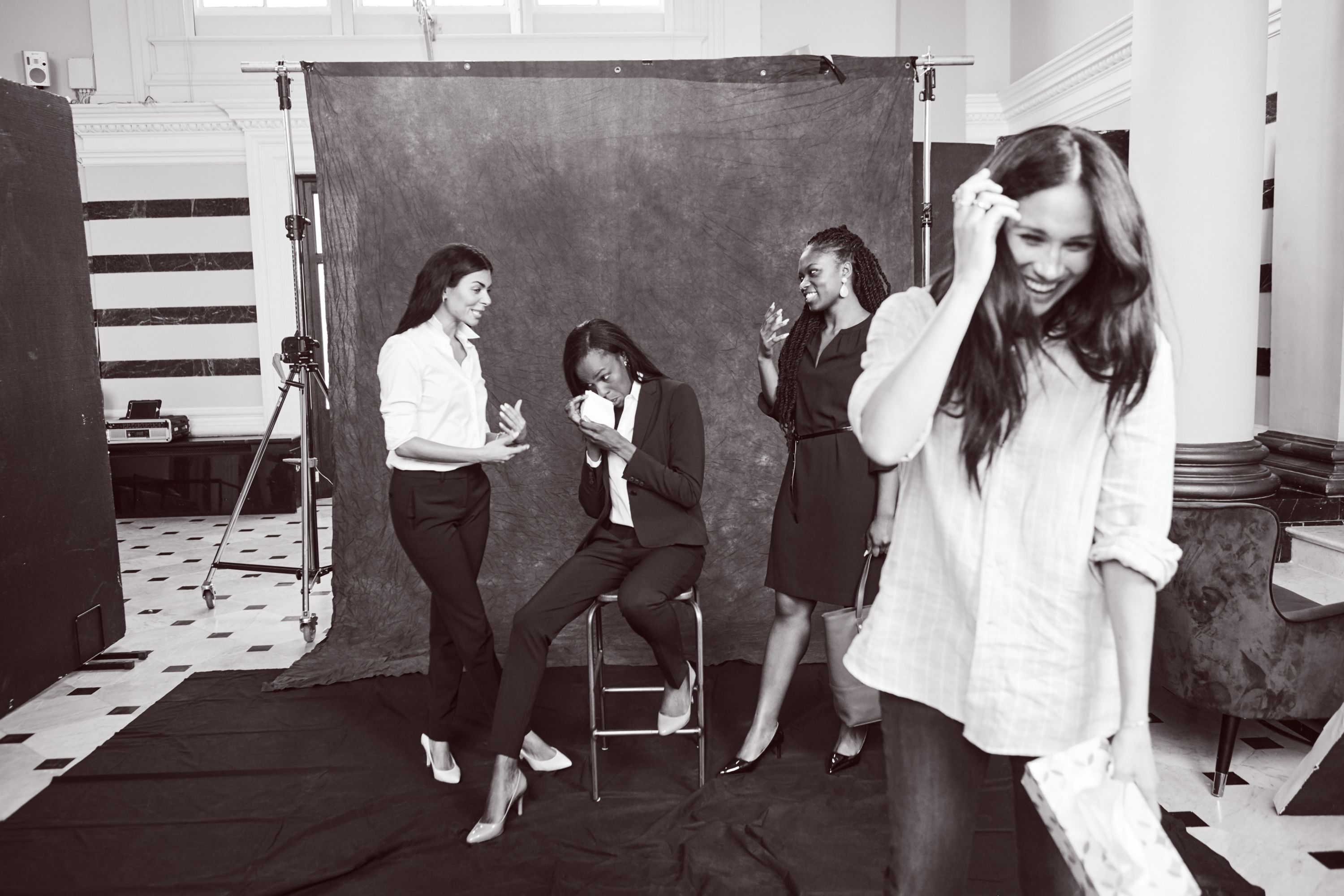 See New Behind-the-Scenes Photos of Meghan Markle at the Photo Shoot for Her Charity Clothing Collection
