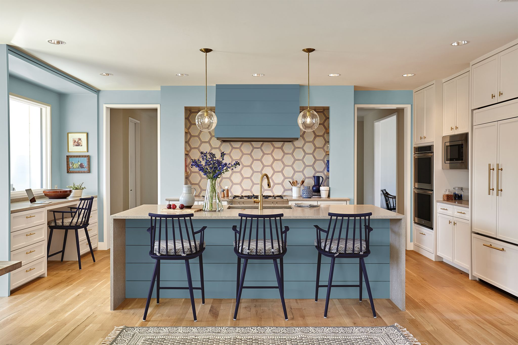 Blue Kitchen Ideas   40 Designer Blue Kitchens   Blue Walls U0026 Decor Ideas  For Kitchens