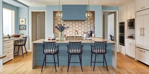 40 Blue Kitchen Ideas - Lovely Ways to Use Blue Cabinets ... - photo#49