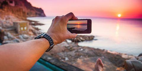 Vacation, Sky, Hand, Travel, Finger, Gadget, Rock, Technology, Tourism, Sea,