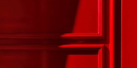paneling on a red wall