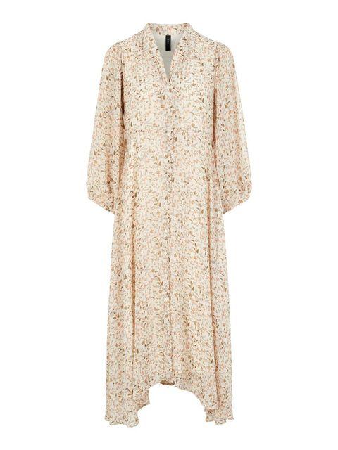 beige jurk yas bestseller zomerjurk winter