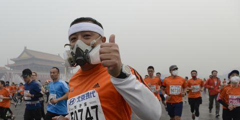 Pollution and Masks at 2014 Beijing Marathon