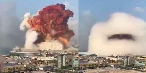 mushroom cloud beirut explosion