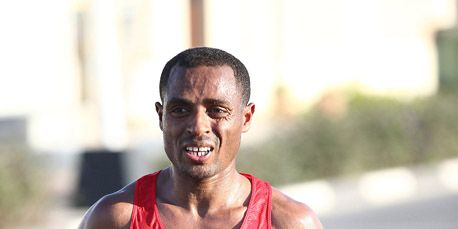Kenenisa Bekele at the 2015 Dubai Marathon