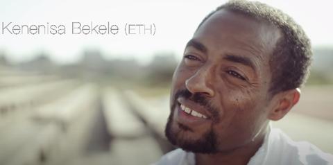 el atleta kenenisa bekele, protagonista del documental the long run del nn running team