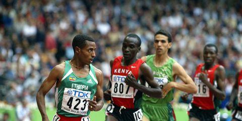 Kenenisa Bekele and Eliud Kipchoge at 2013 Worlds